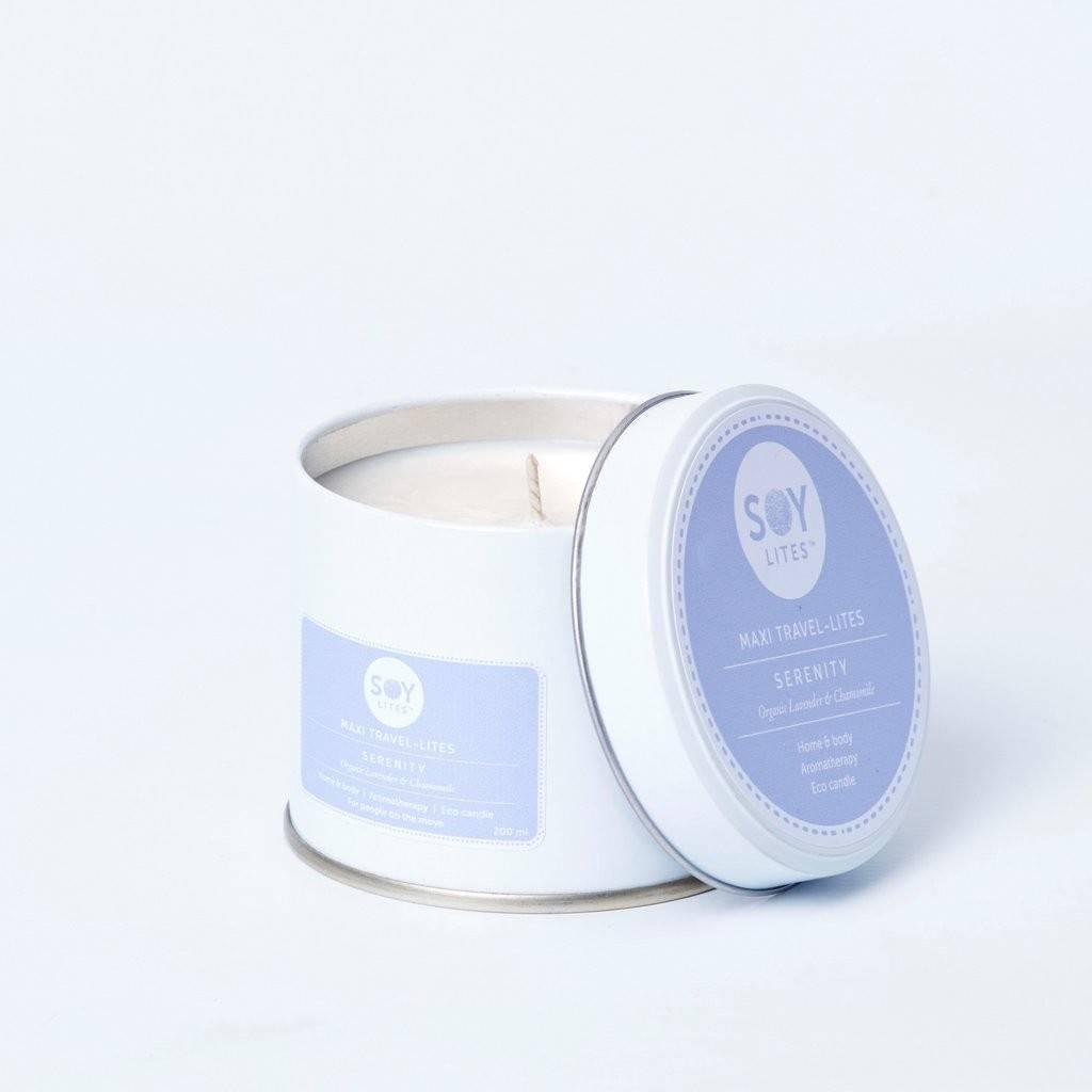 lumanare crema cu lavanda - serenity 200ml/225g