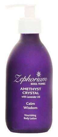 lotiune de corp amethyst crystal cu ulei de lavanda
