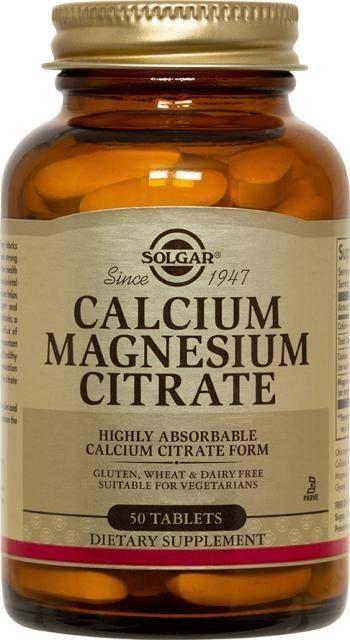 calcium magnesium citrate tabs 50cps solgar