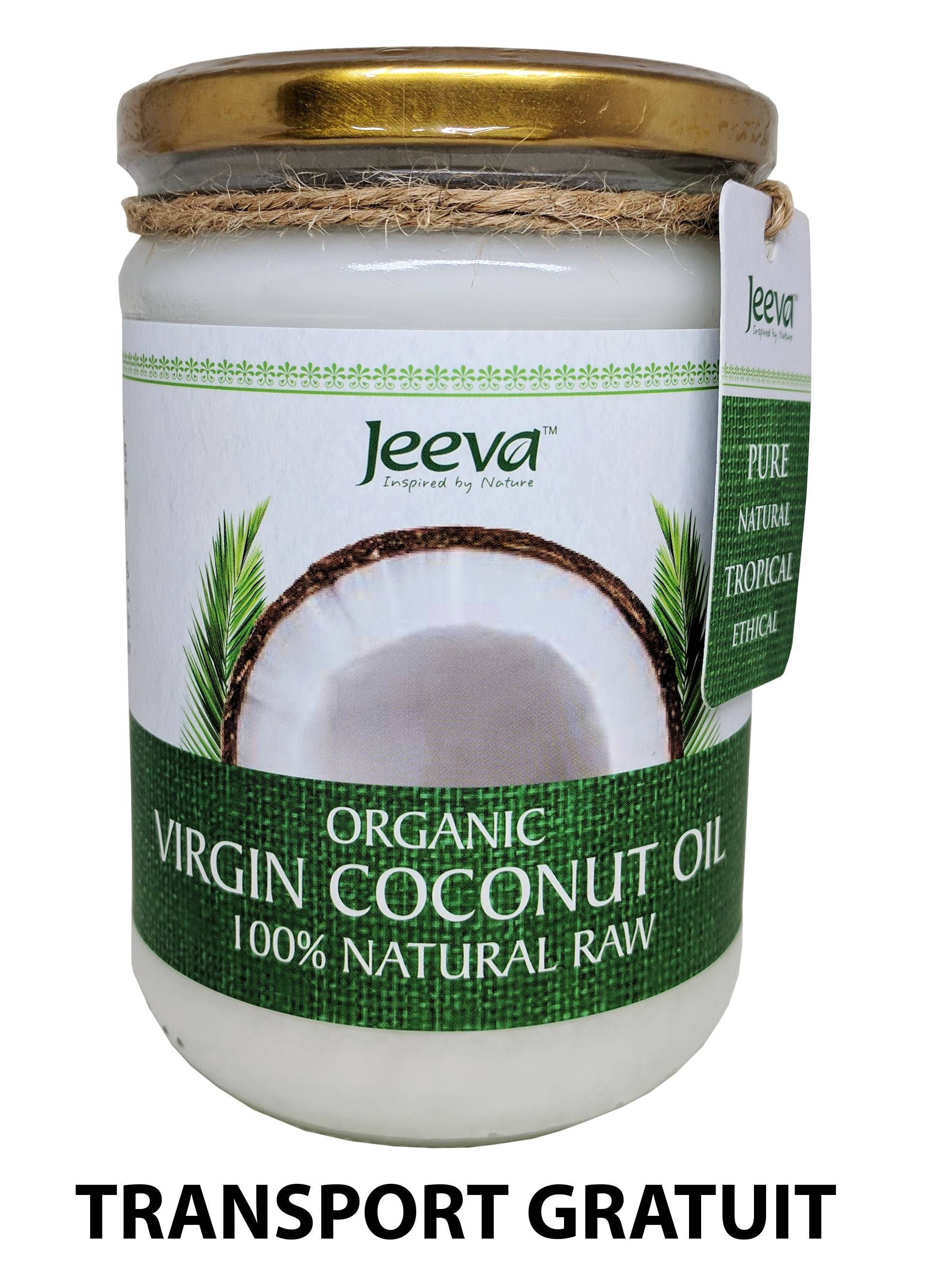 Ulei de Cocos 500ml Raw Organic Extra Virgin - Certificat Kosher thumbnail