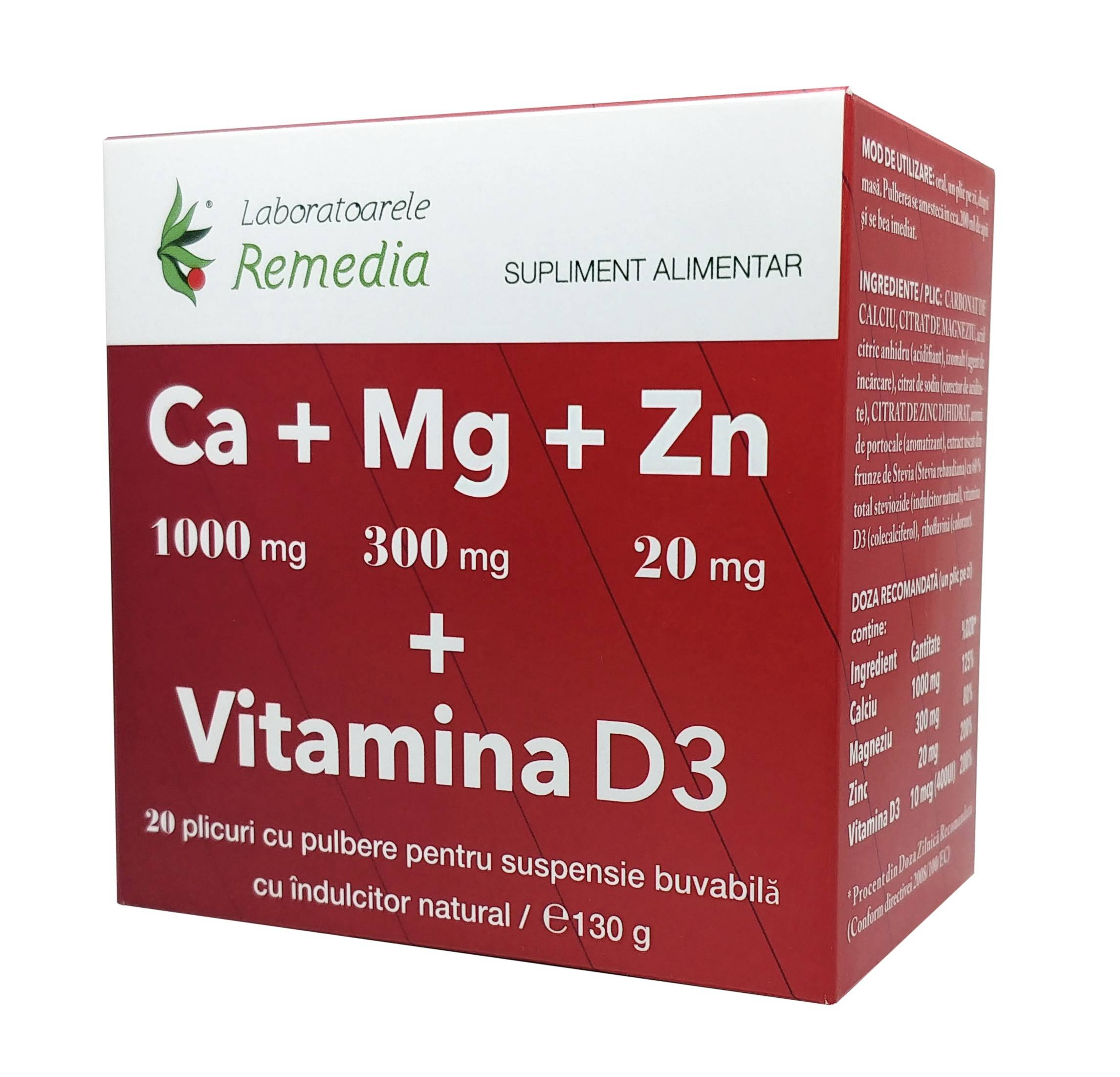 ca+mg+zn +vitamina d3 20dz