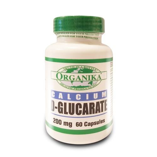 calciu d-glucarate 200mg 60 capsule organika health