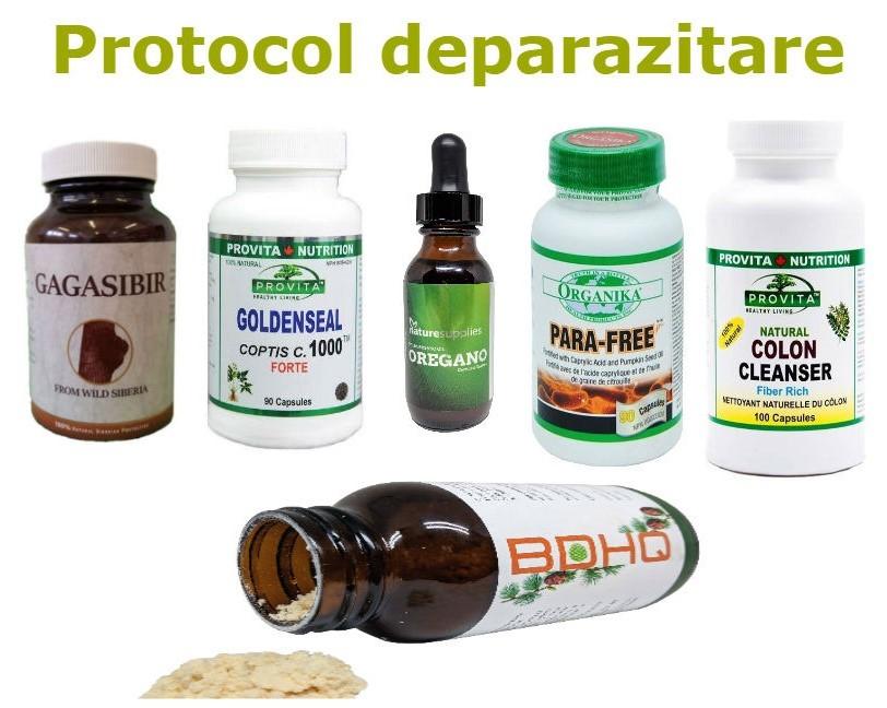 protocol deparazitare