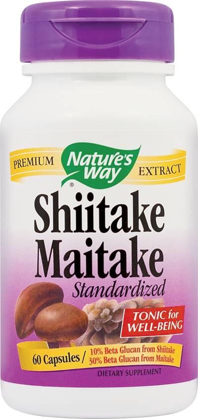 SHIITAKE MAITAKE 60CPS NATURES WAY thumbnail