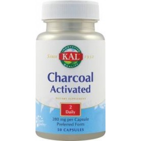 CHARCOAL ACTIVATED (Carbune medicinal) 50CPS