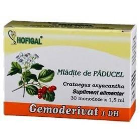 Hofigal Gemoderivat din mladite de paducel, 30 monodoze x 1.5 ml