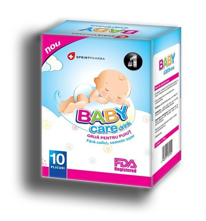 BABY CARE DRINK 10 PLICURI SPRINT PHARMA thumbnail