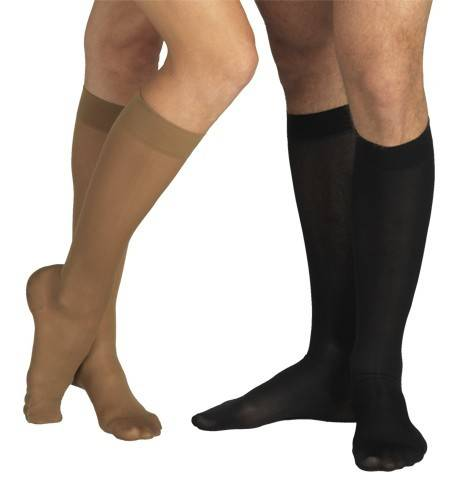 ciorapi 3/4 cu varf, grad profilactic de compresie